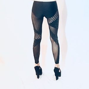 a719452da Brian Lichtenberg couture Other - Sold out runway silver patchwork BL rare  leggings